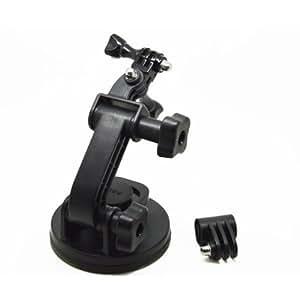 Goliton® Monture support Ventouse de caméra Voiture 1/4 trépied de filetage et noix pour GoPro HD 1/2/3