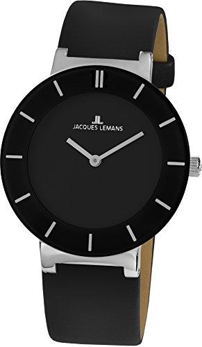 Jacques Lemans Damen-Armbanduhr Monaco Analog Quarz Leder 1-1867A