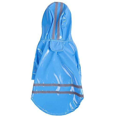 Pet Regenschirm Hunderegenmantel Verstellbarer Haustierhundemantel Atmungsaktive Welpenkleidung PU-Sicherheitsreflektionsjacke Für Kleine, Mittelgroße Teddybärhunde Welpen-Katze -