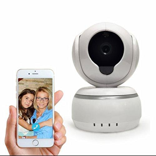 Cámara IP para video vigilancia,cámara de seguridad,3.6mm Gran Angular Lente,Infrarojos y Vision Nocturna,Detección de Movimiento,montaje en interior y exterior,visualización remota Compatible con iOS y Android