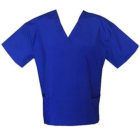 Jonathan Uniform Men's Medical scrub tops (m, Royal blue)