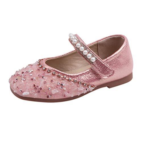 Clacce Herbst Mädchen Prinzessin Schuhe Kind Kinder Baby Kristall Perle Pailletten Sandalen (Meerjungfrau Kleinkind Kostüm Muster)