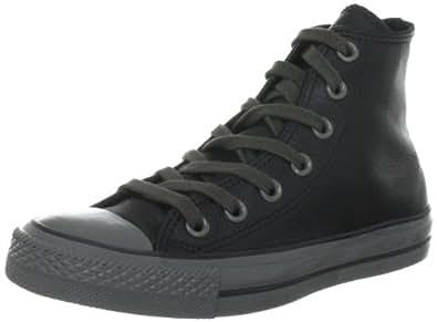 Converse Chuck Taylor All Star Leather  Black 132098C, Unisex - Erwachsene Fashion Sneakers, Schwarz (Black), EU 36.5 (US 4)