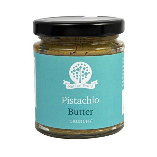 Mantequilla de pistacho lujosamente suave hecha de 100% de pistachos de la más alta calidad, ligeramente tostados y molidos para preservar su gran sabor y aroma. Sin aditivos azucarados, sal o aceite puedes disfrutar esta mantequilla altamente nutrit...