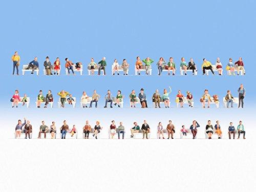NOCH 16071 Figures Parte y Accesorio de juguet ferroviario - Partes y Accesorios de Juguetes ferroviarios (Figures, Cualquier Marca, 60 Pieza(s),, HO (1:87))