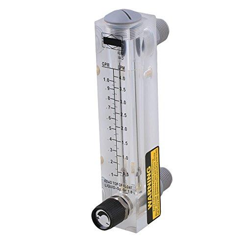 cnbtr ABS Kunststoff Platte Typ verstellbar Flüssigkeit Flowmeter Wasser Durchflussmesser Messung werkzeug, mehrfarbig