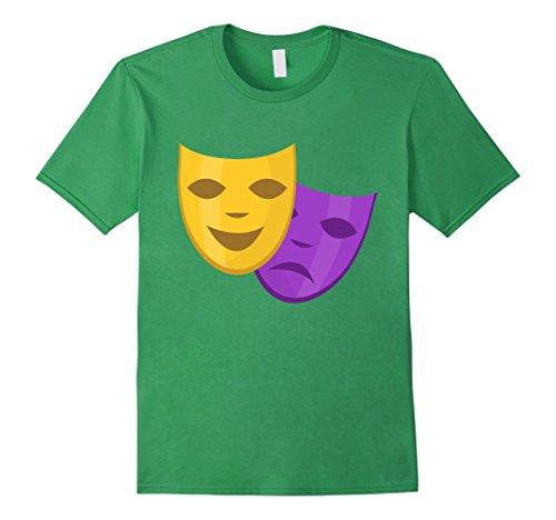 Mardi Gras Gold & Purple Masks Carnival Masquerade T-Shirt Herren, Größe L (Gold Mask Mardi Gras)