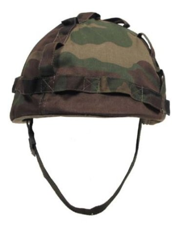US Helm mit Stoffbezug woodland