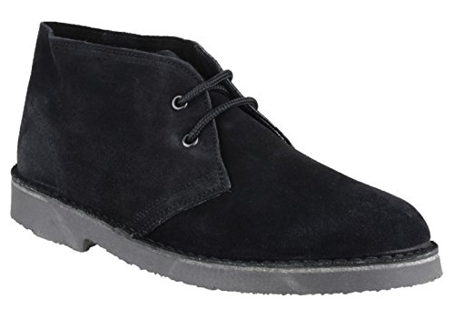 Cotswold Mens Sahara Lace Up Suede Leather Lined Desert Boot Black Black