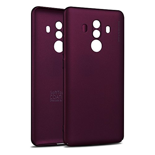 X-level Huawei Mate 10 Pro Hülle, [Kinght Serie] Hart Handlich [Weinrot] Premium PC Material Gutes Gefühl Handyhülle Schutzhülle für Huawei Mate10 Pro Case Cover