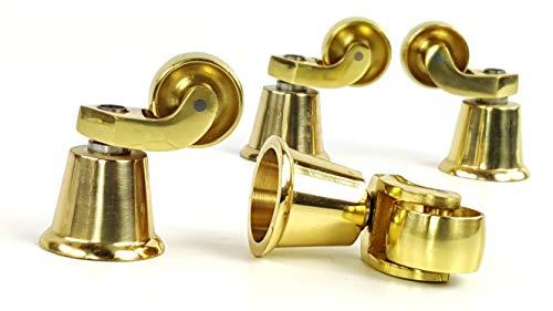 4x Messingrollen Castor für Möbel, Sofas, Betten, Sofas, Stühle, Hocker etc TSP_BR. -