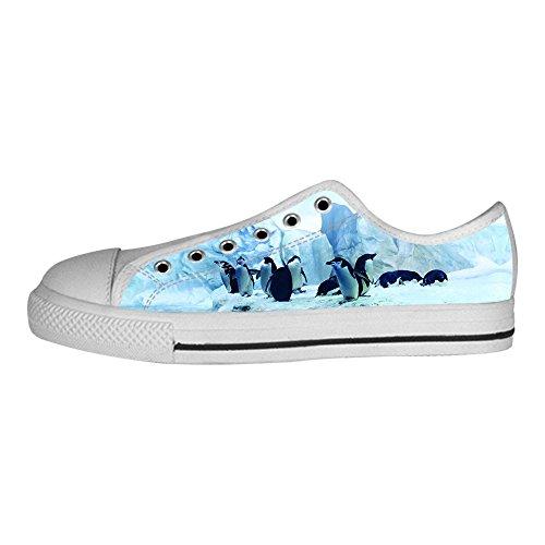 Custom Pinguino Men s Canvas Shoes Scarpe Lace Up High Top Sneakers a vela panno scarpe Scarpe di tela sneakers E