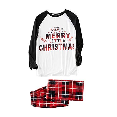 2 Piezas De Letras Impresas De Navidad Top + Pantalones