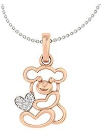 TBZ - The Original 18k Rose Gold and Diamond Pendant