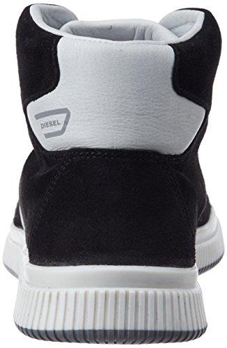Diesel Baskets Mid Homme Urbany E-KURW Noir / Blanc