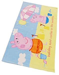 Character World Peppa Pig Building Sand Castles Towel