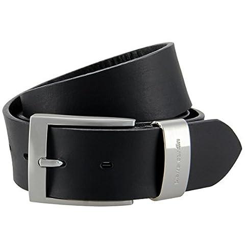 Pierre Cardin Vollbüffel 4mm Echt Leder-Gürtel Herren / Vollleder-Gürtel Herren, Jeansgürtel XXL mit Metallschlaufe, Größe (Mens Cinture Moda)