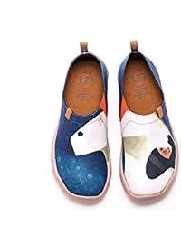 UIN M. et Mme. Chaussures sportives de toiles peintes blanc pour femme (36) qYwmvNDL3