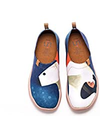 UIN M. et Mme. Chaussures sportives de toiles peintes blanc pour femme (36)