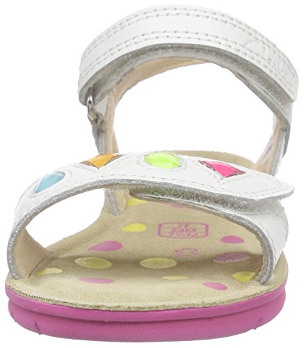 Clarks Kids Mimomagic Inf, Sandales Bride cheville fille Blanc (White Leather)
