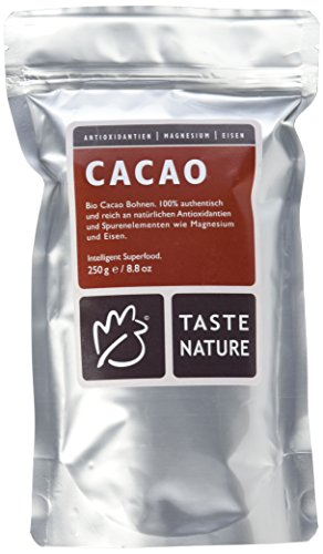 Taste Nature Kakao Bohnen, 1er Pack (1 x 250 g Packung) - Bio
