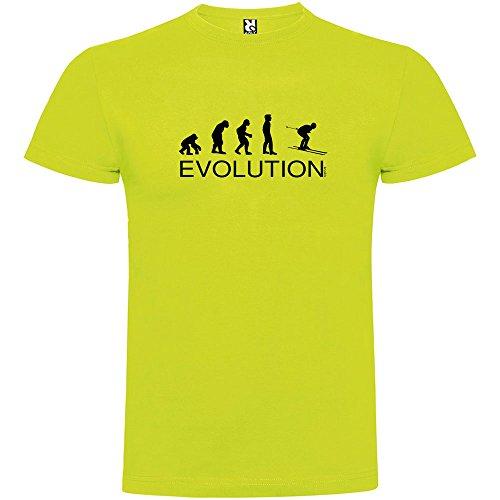 kruskis Camiseta Esqui Evolution Ski Manga Corta Hombre Pistacho S
