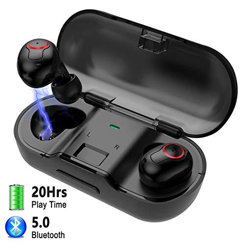 Auricolari Wireless Cuffie,FODLON TWS Bluetooth 5.0 Stereo Auricolari Bluetooth Fili in Ear con Scatola Ricarica e Microfono Incorporat compatibili con...