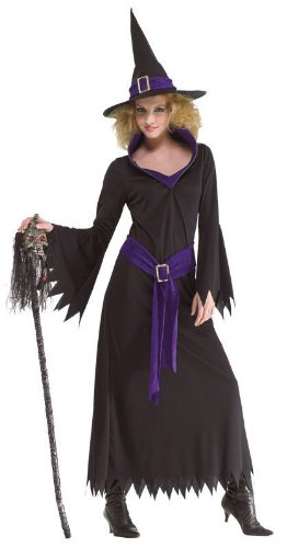 Costume Sorcière Sorcière Costume pour femmes Ladies costume chapeau de sorcière sorcières robe taille. 44-46