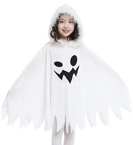 La vogue Geist Kostüm Kinder Mädchen Verkleidung Karnevalkostüme Umhang Cosplay 7-9 Jahre (Geister Kostüme)