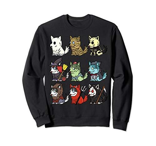 Husky Gruselige Kostüme Lustiger Hund Halloween Geschenk  Sweatshirt
