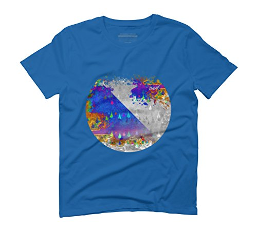 Abstract Colorful Rain Drops Design Men's Graphic T-Shirt - Design By Humans Royal Blue