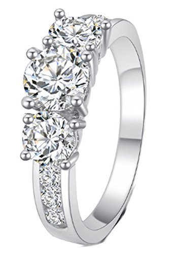 SaySure - Romantic Noble Gold Color Zircon Crystal Rings (SIZE : 7)
