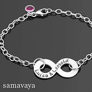Armband mit Gravur Namensgravur INFINITY 925 Silberschmuck Freundschaft Liebe Unendlichkeitszeichen
