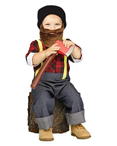 Horror-Shop Cooles Hipster Holzfäller Kostüm für Kleinkinder L