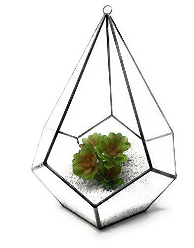 20.5x20.5x26.5cm de diamante lágrima terrario Ultra Premium calidad cristal terrario diamante lágrima...