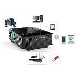 Generic UNIC UC46 Mini HD 1080P LCD Wireless WiFi Projector 1200LM Airplay Miracast DLNA EU Plug