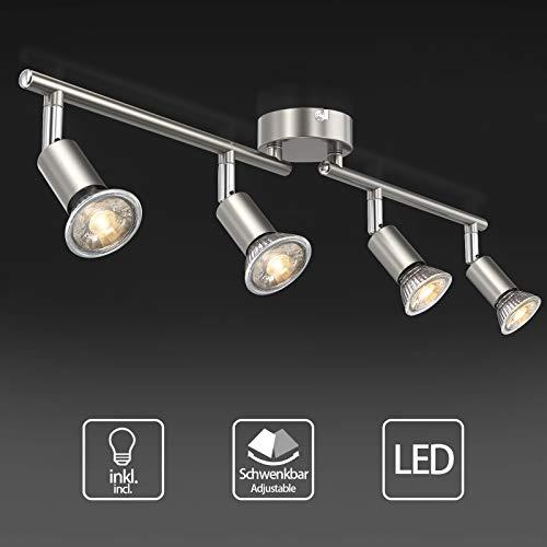 Uchrolls Foco LED para techo I 4 vías lamparas de techo led...