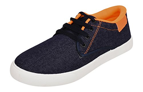 Foot n Style Men's Blue Sneakers - 8 UK  available at amazon for Rs.404