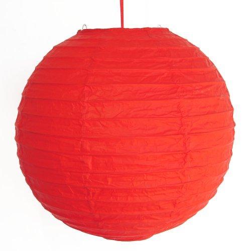 Feng Shui de 2 de color rojo linternas de papel