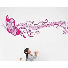 Pegatinas Adhesivos Vinilos Decorativos Pared Removible de La Mariposa pequeño Rosa para Sala , Dormitorio ect. ( 35*160cm)