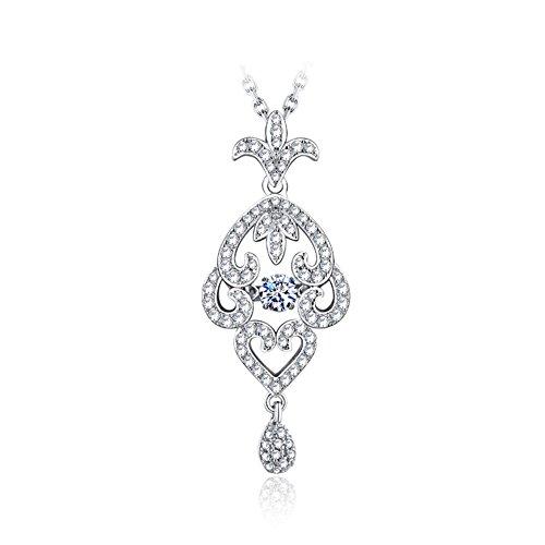 Mariage bijoux ensembles colliers/ boucles d'oreilles/925 Collier argent cubic zirconia C