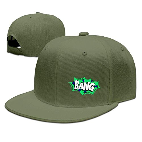 (Miedhki Bang-Logo-Word Fashion Baseball Deckel,Hiphop Deckel Multicolor56)