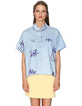 Pepa Loves, SHIRT DENIM PINEAPPLE - CAMISA para mujer
