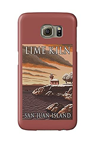 Lime Kiln Lighthouse - San Juan Island, WA Snow Version (Galaxy S6 Cell Phone Case, Slim Barely There)