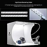 DIGITAL HD SET FOTOGRAFICO SOFTBOX box luce 20 cm 3 fonti luce led luce bianca Photo Studio + 6 sfondi KIT PORTATILE