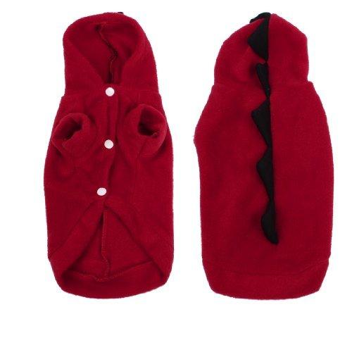Tragen ärmel (SODIAL (R) Winter tragen kurze aermel Hund Hund Chihuahua mit Kapuze Kleidung Kleidung rot XS)