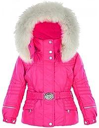 be2041967da1 Poivre Blanc-Veste de Ski imperméable Rose du 18 Mois au 3 Ans bébé Fille
