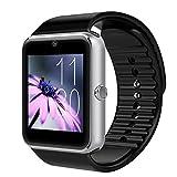 Bluetooth Smartwatch, CHANPAK Uhr Intelligente Armbanduhr Fitness Tracker Armband Sport Uhr mit Alarme/Schlafanalyse/Romte Capture/Kameraaufnahme/GPS-Routenverfolgung Kompatibel mit Android/IOS (GT08)