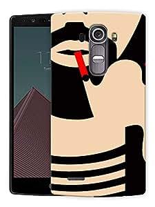 "Humor Gang Man Beard And Smoke Printed Designer Mobile Back Cover For ""LG G4"" (3D, Matte Finish, Premium Quality, Protective Snap On Slim Hard Phone Case, Multi Color)"