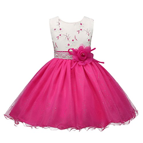 Blumen-Mädchen-Prinzessin Dress Kids Mesh Legging und ärmellose Abendkleider